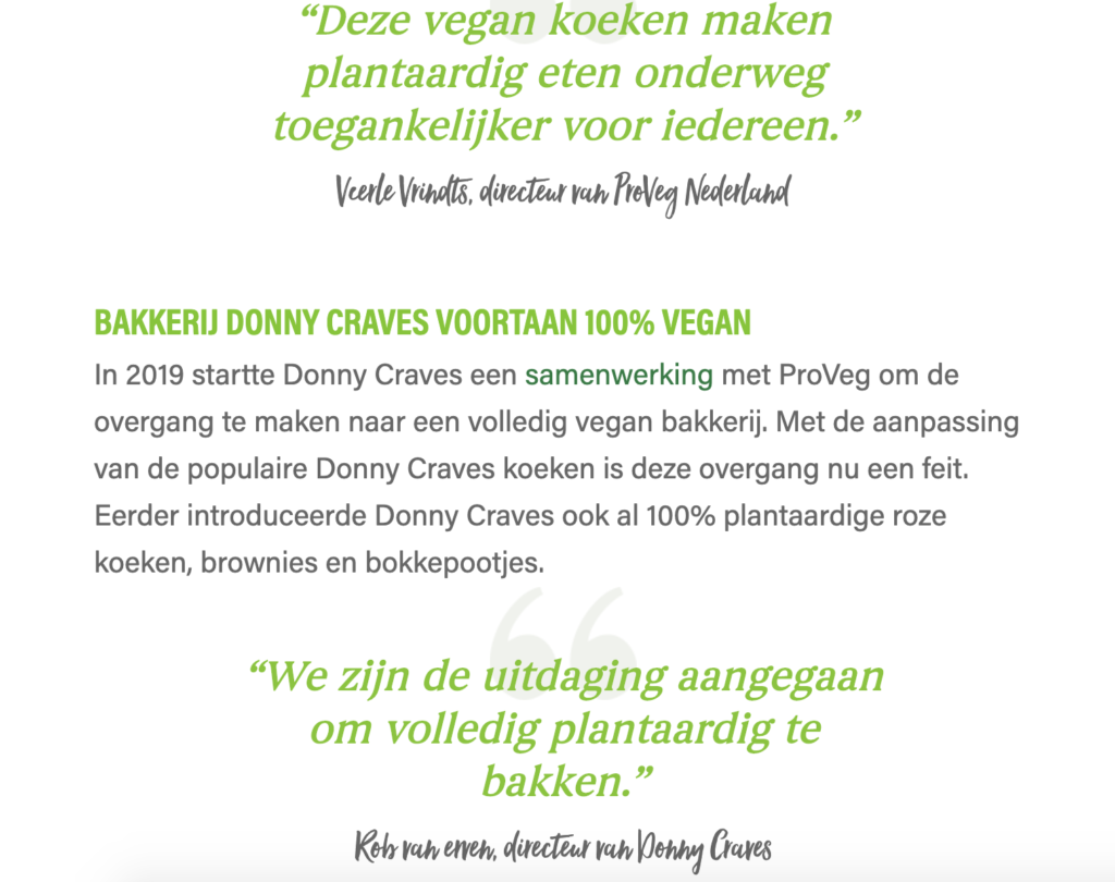 Donny craves vegan assortiment